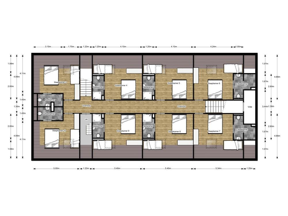 Hofstede Landduin_Buitenhuys 2d eerste-verdieping ingericht